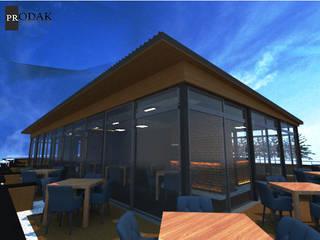 prodak mimarlık mühendislik tic. san. ltd. şti – PTT Teras Cafe Pr.:  tarz Yeme & İçme, Modern