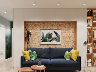 Scandinavian style living room by 3D GROUP Scandinavian