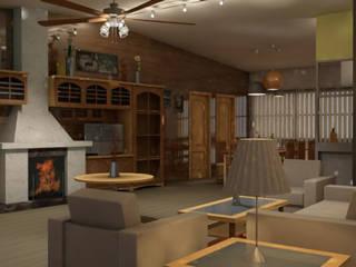 Salas de estilo rústico de Alfaro Arquitecto 3A3 Rústico
