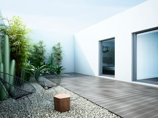 Vivienda a orillas del Mediterráneo: Jardines de estilo  de S-AART, Minimalista