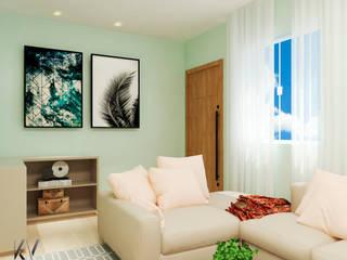 SALA DE ESTAR: Salas de estar  por Karine Venceslau Arquitetura,Moderno