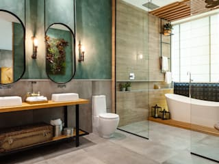 Industrial style bathrooms by Elaine Generoso Industrial
