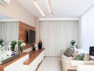 Elaine Generoso Moderne Wohnzimmer Holz Weiß