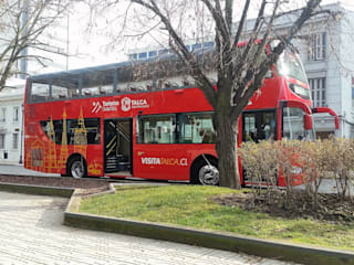 Cierre panorámico bus turismo: Espacios comerciales de estilo  por CarpasLircay.cl, Industrial