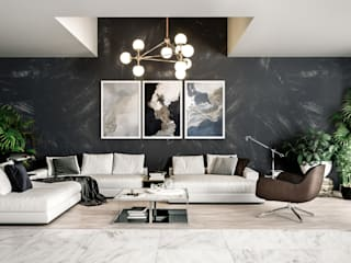 Vista Linda - CDMX Salones minimalistas de HC Arquitecto Minimalista