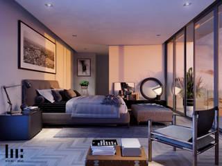 Habitacion peincipal Dormitorios minimalistas de HC Arquitecto Minimalista