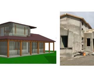 CONSTRUCCIÓN DE VIVIENDAS PISCINAS QUINCHOS Y TERRAZAS de Constructora Sanar spa Moderno