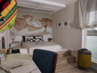 Habitaciones de estilo mediterráneo de KELLY ALMEIDA Mediterráneo