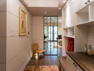 日光綠景 乡村风格的走廊,走廊和楼梯 根據 松泰室內裝修設計工程有限公司 鄉村風
