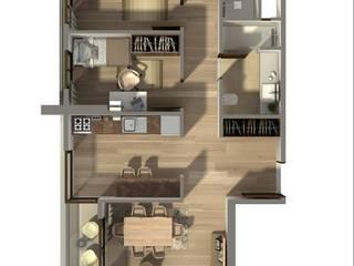 ms mimarlık – SeaLand Konut Projesi (2018):  tarz Apartman, Modern