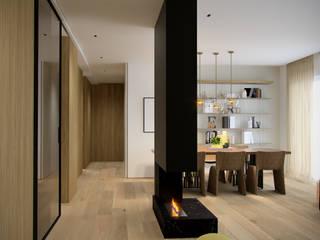 Permeabilità Soggiorno minimalista di marco tassiello architetto Minimalista