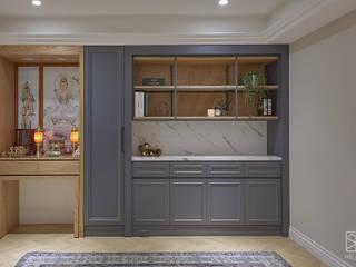 神明桌與法式鄉村的結合 根據 禾廊室內設計 古典風