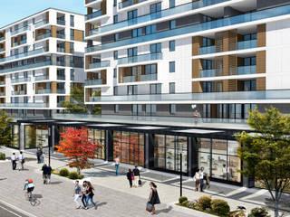 ms mimarlık – Çelik İnş. Konut Projesi (2014):  tarz Evler, Modern