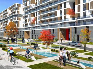ms mimarlık – Çelik İnş. Konut Projesi (2014):  tarz Apartman, Modern
