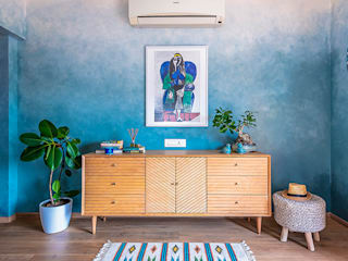 Blues are the Best Modern living room by Skketchboard Insol LLP Modern