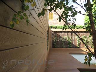 Revestimiento madera tecnológica exterior NeoLack Wood de Neoture Innovación Ecológica Mediterráneo