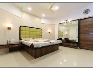 Gera South, Kharadi. Modern style bedroom by AARAYISHH Modern