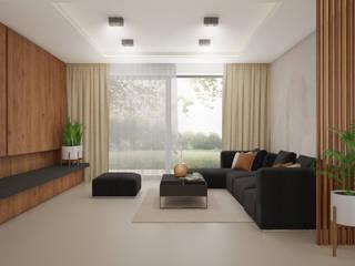 Dom na Psim Polu we Wrocławiu Nowoczesny salon od Nevi Studio Nowoczesny