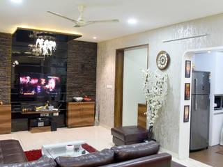 Sobha Garnet, Parge Nagar.:  Living room by AARAYISHH (Mumbai & Pune),Modern