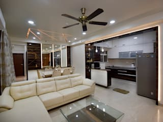 Song of Joy, Kharadi. Modern living room by AARAYISHH Modern