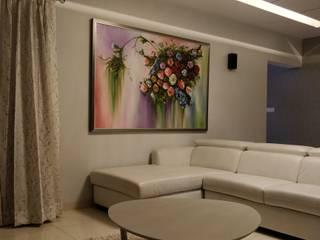 Interior designing of 2 bhi SOBHA GARNET Modern living room by AARAYISHH Modern