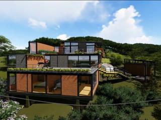 Casa los Arrayanes : Casas campestres de estilo  por FRACTAL Arquitectura, Moderno