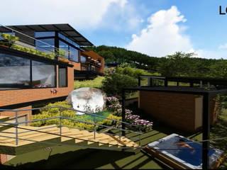 Casa los Arrayanes : Tinas de hidromasaje de estilo  por FRACTAL Arquitectura, Moderno