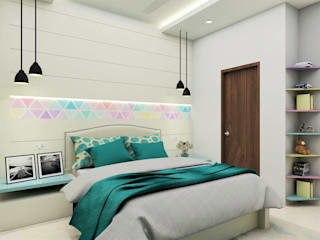 Tanish Dzignz Modern style bedroom Multicolored