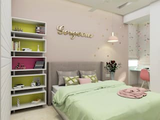 Modern Luxury Apartment Design Modern style bedroom by Tanish Dzignz Modern