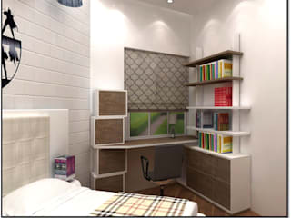 Teenager Boy Bedroom Modern style bedroom by Tanish Dzignz Modern