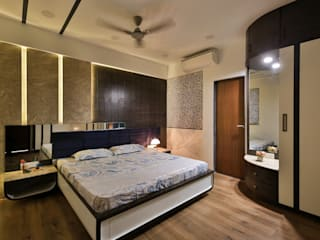 3 BHK Apartment in Song of Joy, Kharadi:  Small bedroom by AARAYISHH (Mumbai & Pune),Modern