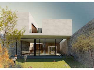 AWA arquitectos Minimalist house Glass White
