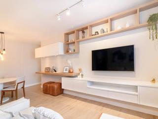 MOOD- Apartamento Interlagos Salas de estar minimalistas por Estudio MOOD Minimalista