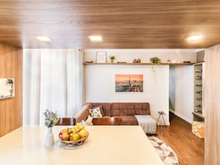 MOOD- Apartamento Alameda Santos Salas de estar rústicas por Estudio MOOD Rústico