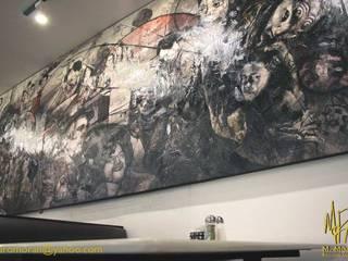 Decoración de Cafetería de la Cineteca Nacional (Ciudad de México) con Mural de Nuestra Autoría de MORAN Estudio D Arte Moderno