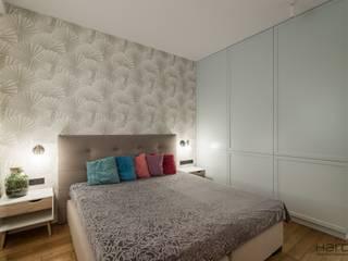 Apartament w stylu nowojorskim Nowoczesna sypialnia od Monika Hardej Architekt Nowoczesny