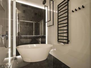 Apartament w stylu industrialnym Industrialna łazienka od Monika Hardej Architekt Industrialny