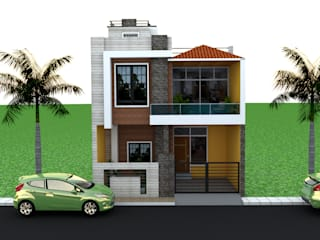 house elevation design:  Multi-Family house by Dominic Interiors,Modern