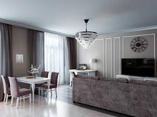 Классическая квартира на ул. Кирочная, в г. Санкт-Петербург, 2019г. Гостиная в классическом стиле от ArtDD.club Классический