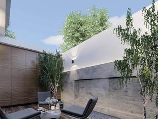 Asombrosa casa de lujo Balcones y terrazas modernos de Rebora Arquitectos Moderno