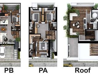 Asombrosa casa de lujo de Rebora Arquitectos Moderno
