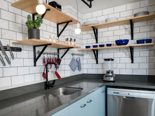 Cocinas integrales de estilo  de entrearquitectosestudio, Moderno
