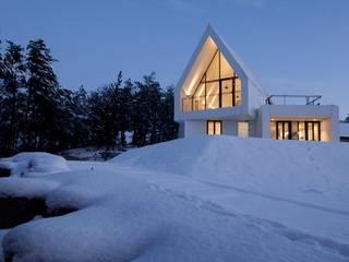 House in White 미니멀리스트 주택 by AEV Architectures (아으베아키텍쳐스) 미니멀