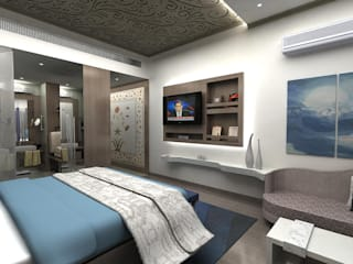 Hotel Room Modern hotels by Tanish Dzignz Modern
