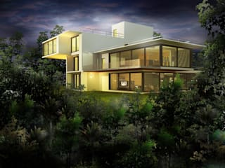 Facade Design Rustic style houses by Tanish Dzignz Rustic