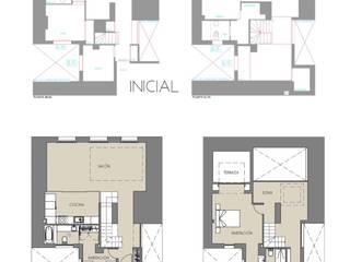 Reforma integral DUPLEX-LOFT-ATICO. Retiro Madrid Casas de estilo minimalista de Arquide Estudio, reforma y rehabilitación en Madrid Minimalista