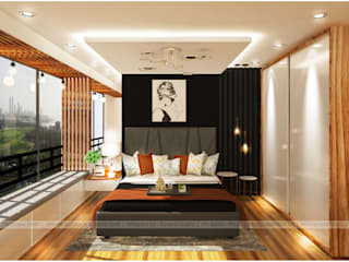 Modern 2 BHK Modern style bedroom by Purpledesk Modern