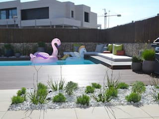 Jardín familiar Jardines de estilo moderno de Irati Proyectos Moderno