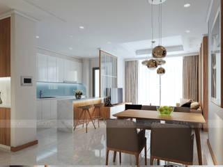 NỘI THẤT VINHOME LAMARK 2 Phòng ăn phong cách hiện đại bởi RIKATA DESIGN Hiện đại