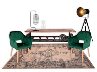 Rafaela Fraga Brás Design de Interiores & Homestyling Concessionarie d'auto in stile industrial Legno Verde